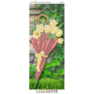 Парасолька з жовтими тюльпанами (част. виш.) ([ПМ 4103])